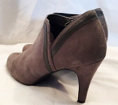 Ankle Boots Shoes Womens Size 8 Dexflex Comfort Boots Shoes Suede Grey Heel Boot