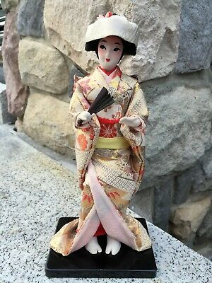 "Japanese Oriental Geisha Girl Doll 10"" Tall"