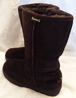 Bearpaw Boots Shoes Womens Size 8 Bearpaw Emma Boots Shoes Suede Brown Slip On