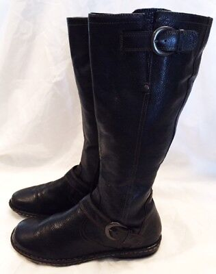 B.O.C. Boots Shoes Women Size 8.5 B.O.C. Austin Riding Boots Shoes Black Leather