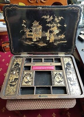 Vintage Chinese sewing box
