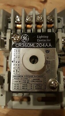 Ge Cr360Ml204Aa 4 Pole 20 Amp 250 Volt Lighting Contactor