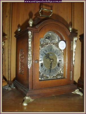 Top Quality Chiming Mantle/bracket Clock With  Moonphase Oak Case
