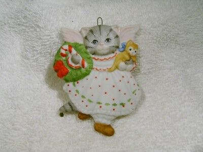 Kitty Cucumber Schmid CAT ANGEL CHRISTMAS XMAS ORNAMENT