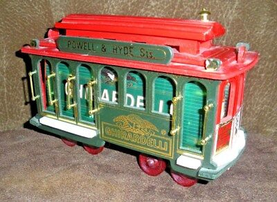 Ghirardelli Chocolates ~ San Francisco Wood Trolley Cable Car #39