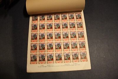 VERY RARE India Pakistan TB Christmas Seal 1949-1950 PROOF Booklet, 7 Sheets