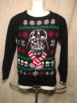 Star Wars Darth Vader Ugly Christmas Sweater Child Size XL NWT