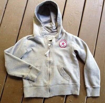 Kids Converse All-Star Medium 10 To 12 Years Gray Logo Patch Hoodie