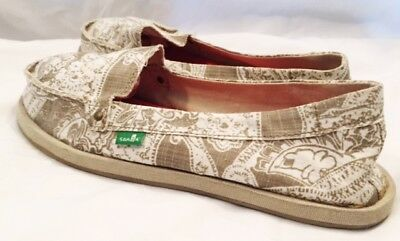 Sanuk Slip On Shoes Womens Size 9 Sanuk Donna Shoes Sanuk Hemp Shoes Slip On