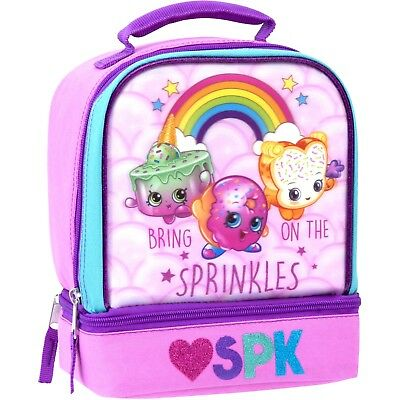 Shopkins 3D Lunch Box Insulated Pink Bag Sprinkles Christmas NEW StockingStuffer