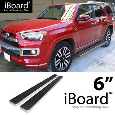 Running Board Side Step Nerf Bars 6in Silver Fit Toyota 4Runner Limited 10-19