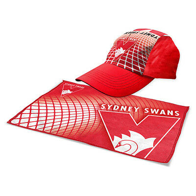 NEW Official Sydney Swans Sports Pack (Cap and Microfibre Towel)