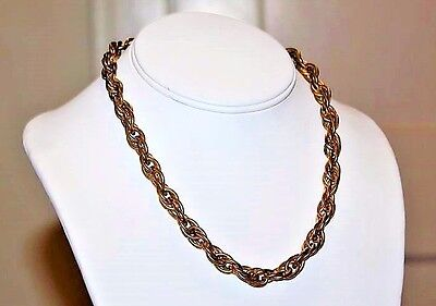 Antique Victorian Exceptional Quality Brass Chain Lovely Necklace NC4