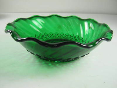 Beautiful Green Glass Candy Dish With A Simple Design