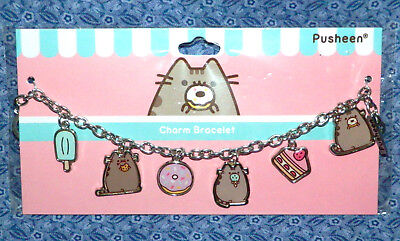 New Sealed PUSHEEN Kitty Cat Charm Sweet Tooth Bracelet Mint Choc Chip Icecream