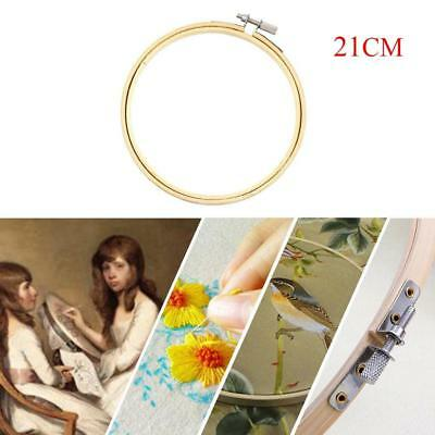 21cm Embroidery Hoop Circle Round Bamboo Frame Art Craft DIY Cross Stitch New ED