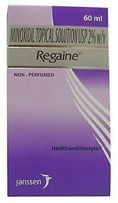 Pack of 2 Regaine Minoxidil 2% 60 Ml- for Women Hereditary Hair Loss Treatment