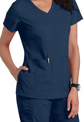 NEW KD110 Barco INDIGO Solid Scrub top large NEW 8102 camy top kayla new