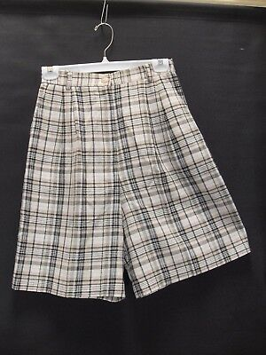 1980's Vintage High Waisted Check Shorts