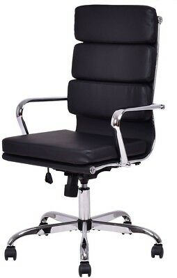 Giantex High Back PU leather Executive Office Chair Computer Desk Task Swivel