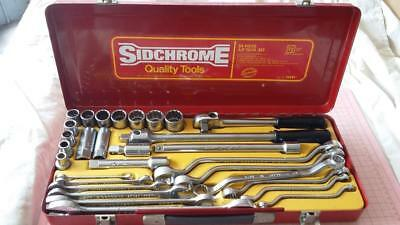 Vintage Sidchrome 31 Piece AF Tool Set.rare,old,spanners,garage,tools,workshop.