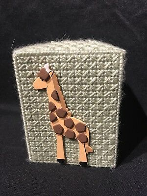 Monkey Tissue Box Cover Baby Nursery Giraffe Handmade Elephant Lion