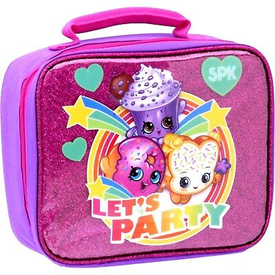 Shopkins Lunch Box Insulated Pink Bag Lets Party Christmas NEW Stocking Stuffer