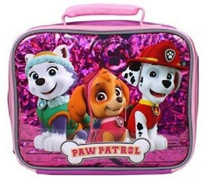 Paw Patrol Lunch Box Insulated Girl's Pink Bag Christmas NEW Stocking Stuffer