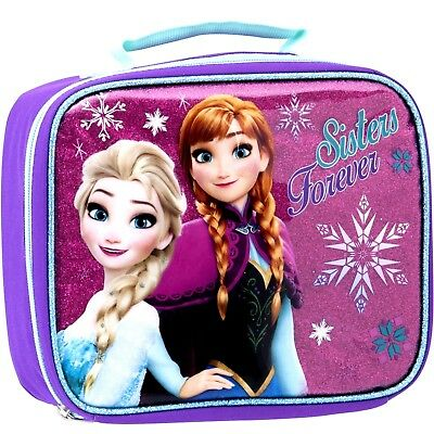 Frozen Elsa Anna Lunch Box Insulated Bag Sisters Forever Disney Christmas NEW