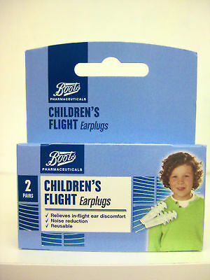 2 Pair of Boots Co. Children's Flight ear protection plugs in sealed box