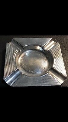 Australian Sterling Solid Silver Ashtray, Hallmarked