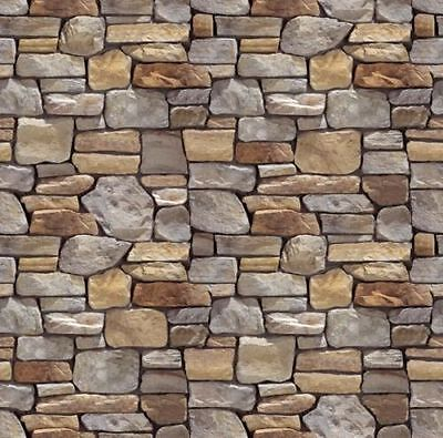 196 X 270Mm O Gauge Stone Wall Self Adhesive Paper Sheets 2D