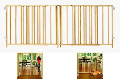 Extra Large Pet Dog Child Toddler Baby Safety Gate Wide Wooden Door Fence 103x27