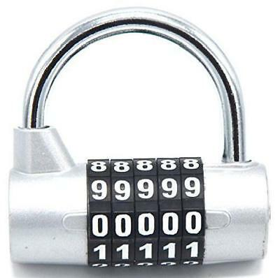 Large Combination Padlock 5 Passwords Security Lock for Storage Lockers Cabinets