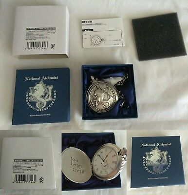 Rare Fullmetal Alchemist Square Enix State Alchemist Watch and Suitcase