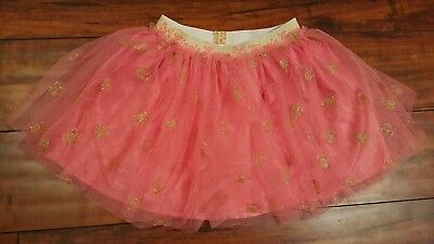 Disney Toddler Minni Mouse Pink & Gold Tutu Skirt Halloween Party Outfit Size 4T