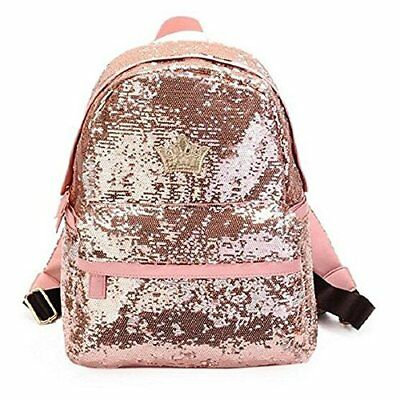 FXTXYMX PU Leather Sequins Backpack Casual Daypacks for Teen Girls