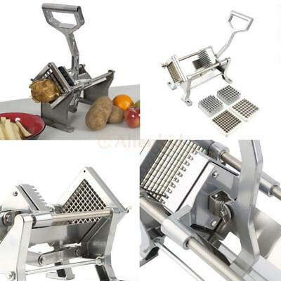 Commercial Restaurant Potato French Fry Fruit Vegetable Cutter Slicer W/ Blades