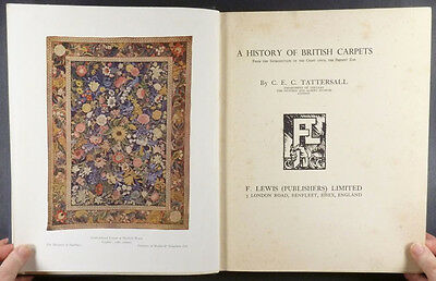Book: Antique English Carpets & Rugs - Embroidered, Turkey Work, Hand Knotted
