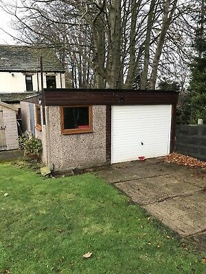 Concrete sectional double garage excellent condition