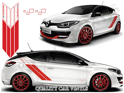 Trophy - R Renault Megane Side Racing Stripes Graphic Decal Stickers Rs112