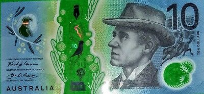 AUST  pair old and new $10 ten dollar notes mint uncirc both general prefixes