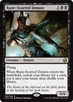 Runned-Scarred Demon - Iconic Masters M/NM