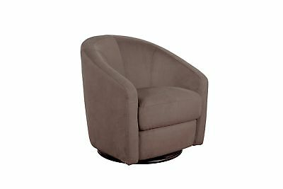 Swivel Chair Glider Seat Microsuede Upholstery Modern for Nursery Living Room US