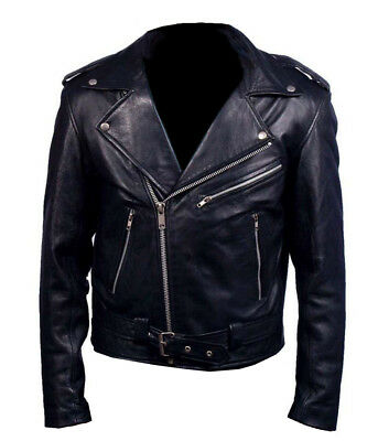 Black Friday Sale Nicolas Cage Ghost Rider Faux Motorbike Leather Jacket (S)
