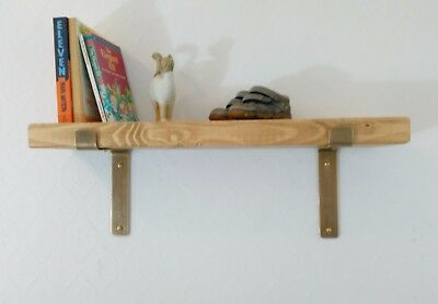 Brass brackets kitchen wall shelf rustic shelves brass shelf