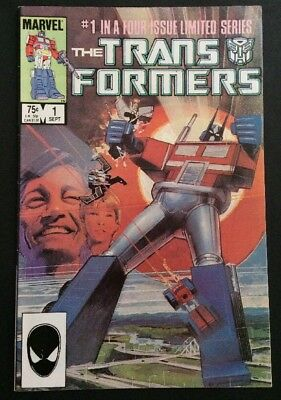 Transformers #1 Marvel Comics Limited Series F/VF 1st Issue 1st Print Sep 1984