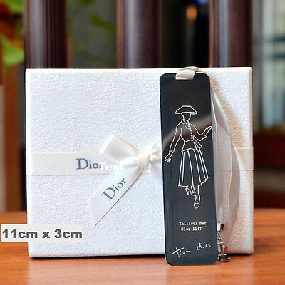 Dior Lady Silver Tone Metal Bookmark Collectable  * New in Gift Box