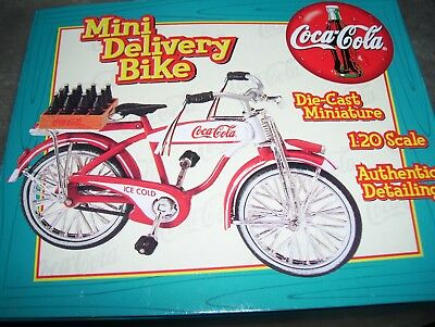 Coca-Cola Mini Delivery Bike-Diecast-Limited Edition-New In Box-Collectible