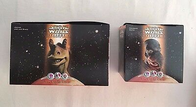 Star Wars Episode 1 Joking Jar Jar Binks & Hovering Watto Taco Bell KFC NIB